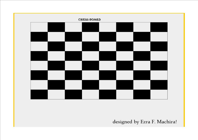 Ezra F, Machira: Chess Board Designed By Ezra Machira