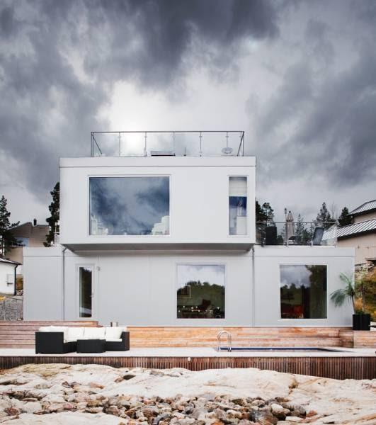 Finnish Design House: Modern White Color House Design Ideas