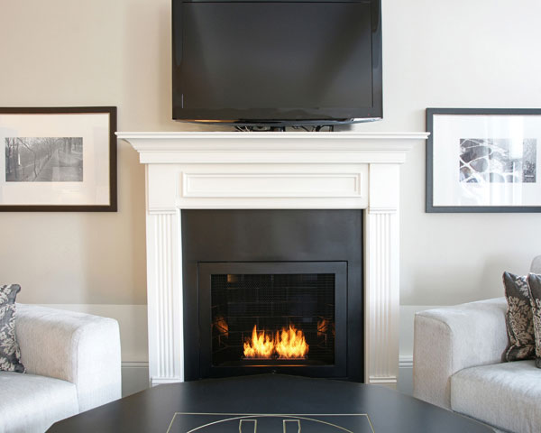 Modern Ventless Fireplaces Design Home Office Decoration