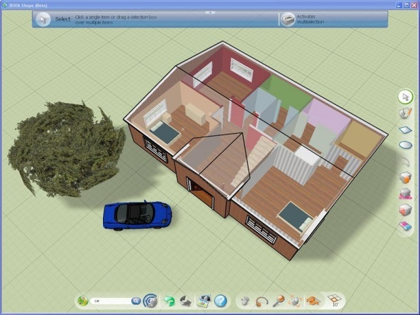 3 d 3dvia shape thaifreewaredownload for Casa 3d gratis