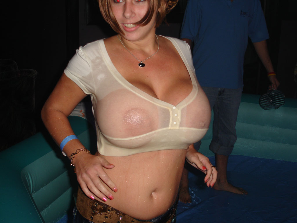 Big boobs wet shirt