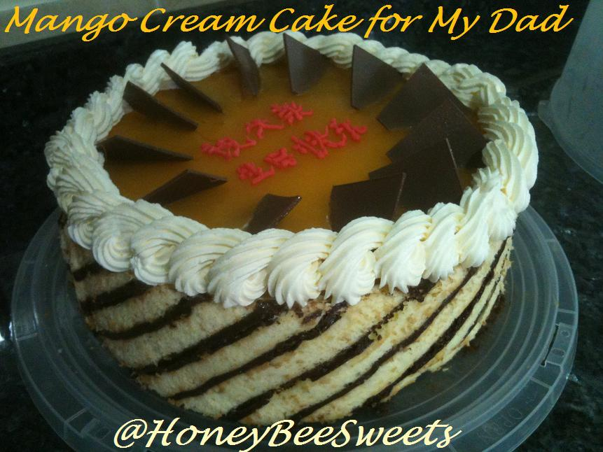 Honey Bee Sweets Birthday Cake for my Dad