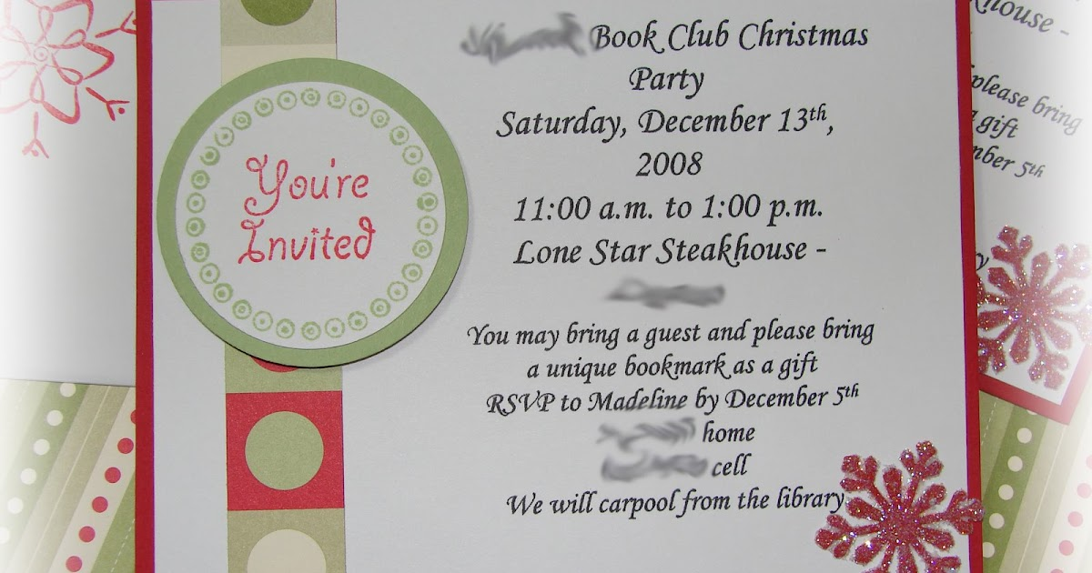 Among The Stars...And Within Yourself: Book Club Christmas