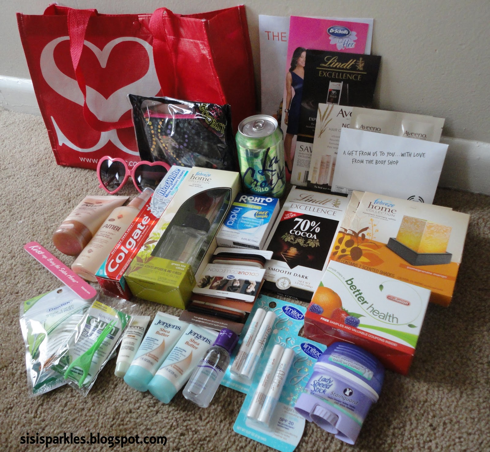 SiSi Sparkles: Sheckys Girls Night Out Goodie Bag and Pics