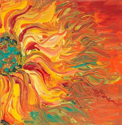 Textured Fire Sunflower, Nadine Rippelmeyer