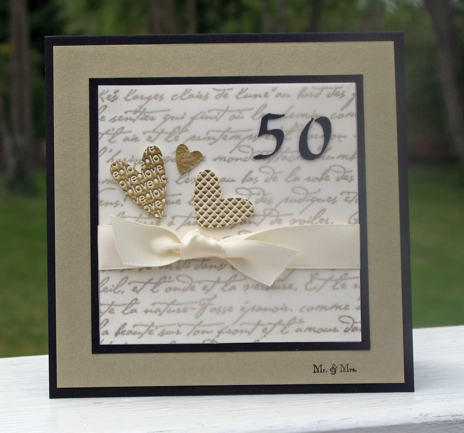 Turtle Creations: 50th Wedding Anniversary
