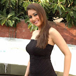 Preeti Jhangiani in Black Dress Spicy Pics
