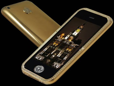 US$ 3.2 million iPhone 3GS Supreme, World's most expensive mobile phone, Stuart Hughes, iPhone made of gold and diamonds