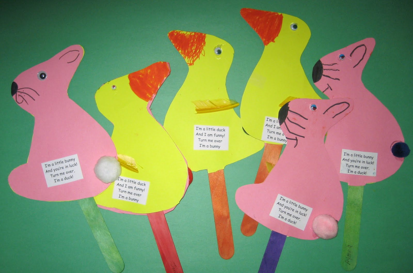 Treasures Of The Heart Preschool And Child Care Bunny Duck Craft
