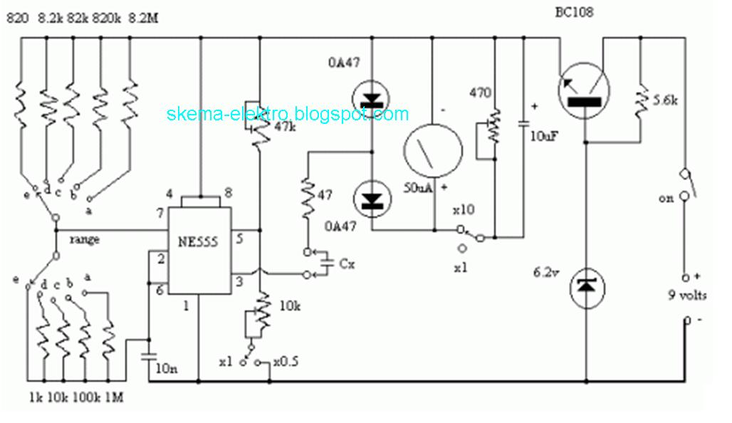 555 timer circuit with variable on off times circuit schematic
