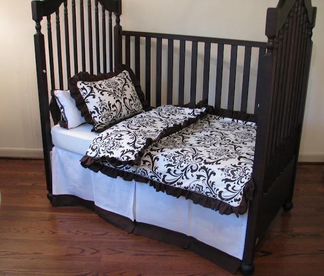 One Haute Kid Gender Nuetral Brown Amp White Nursery Bedding