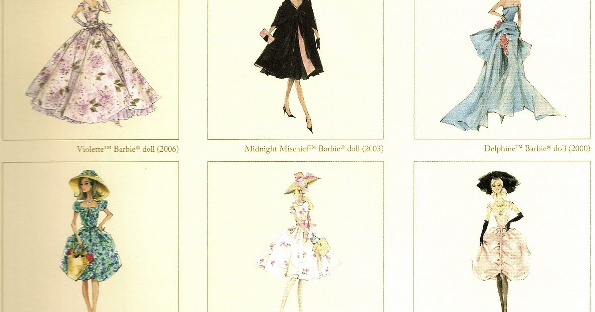 One Haute Kid Win A Set Of Vintage Barbie Fashion Prints