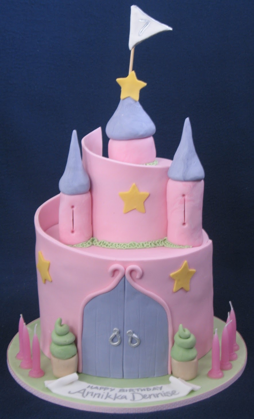Blissfully Sweet A Princess Castle Cake For A 7 Year Old