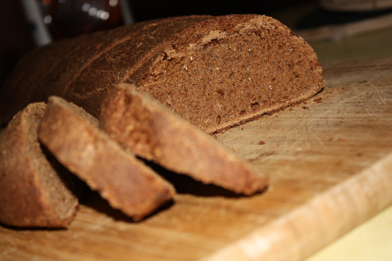 Russian Black Bread Homemade Toast