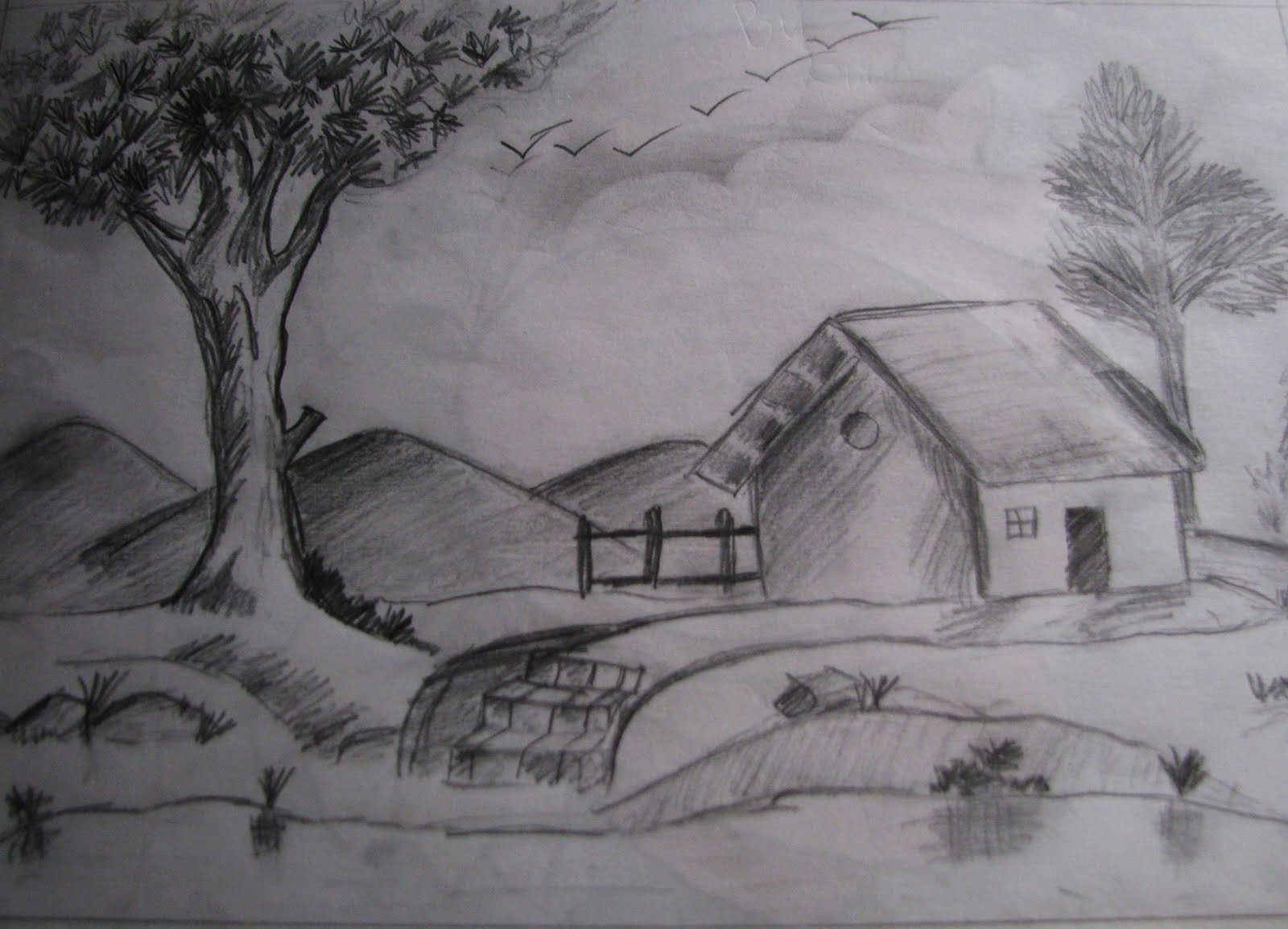 The language of art~: Pencil Sketches - Shading work.