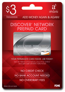 How to Load Money on a nFinanSe Discover Card?