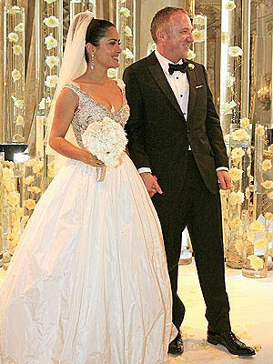 Bridal Planning NJ: Salma Hayeck Wedding Dress Photo!