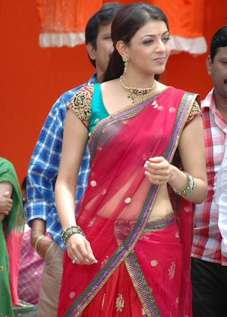 Kajal Agarwal Hot Saree Photos Collection