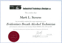 Breath Testing Training Certificate