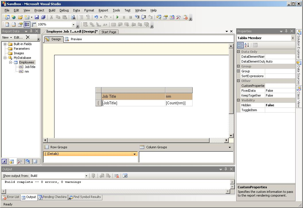 SQL Stuff: SSRS: where should I do my grouping?