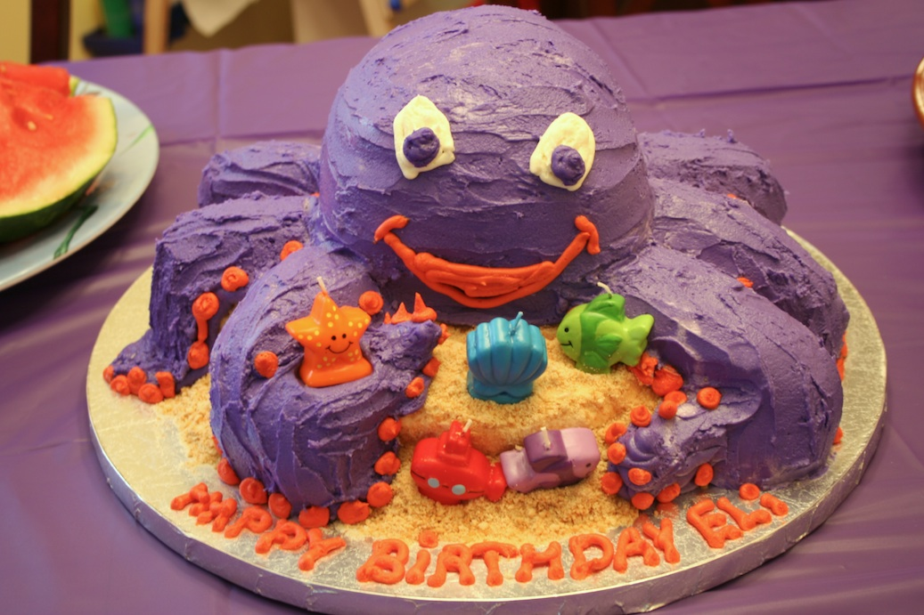 Everyday Finesse Octopus Cake Sculpture Directions