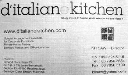 Ah Ming S Blog D Italiane Kitchen Jaya 33