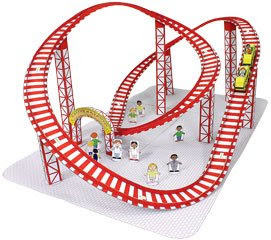 Roller coaster papercraft papercraft paradise for Free printable paper roller coaster templates