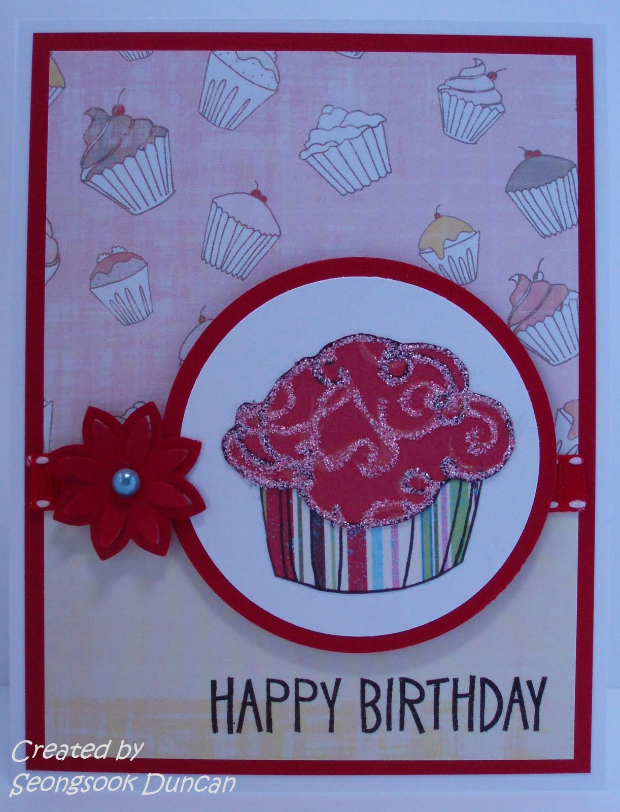 create with seongsook happy birthday card for card maker swap, Birthday card
