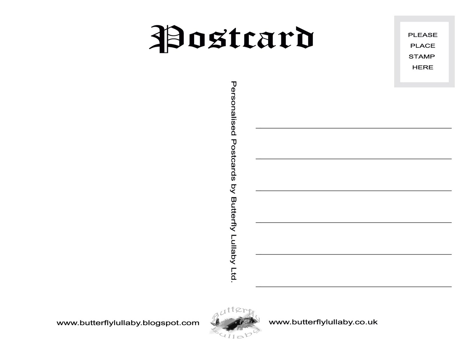 Postcard Templates and thank you cards save money the butterfly – Free Microsoft Word Postcard Template