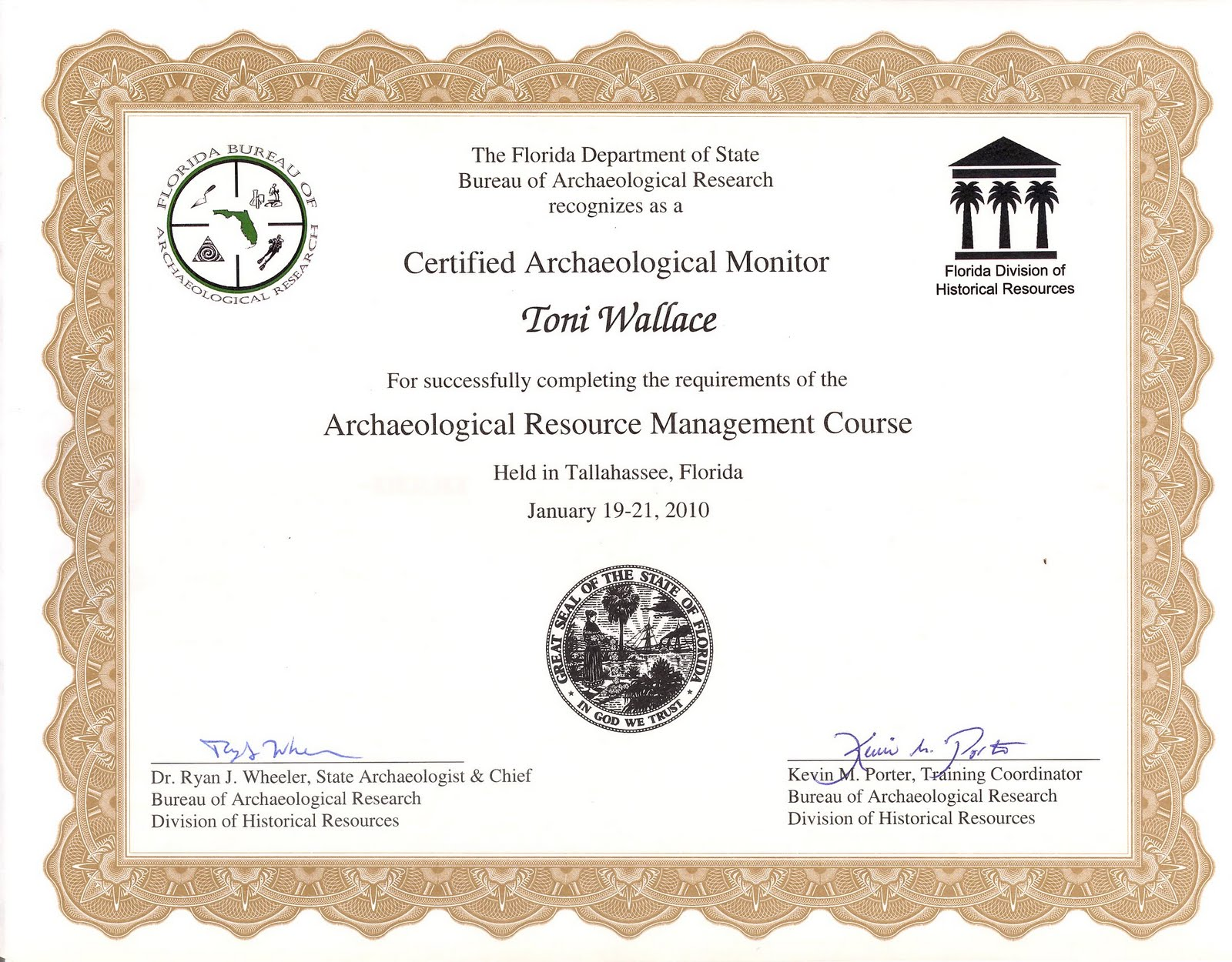 arm certificate training completion