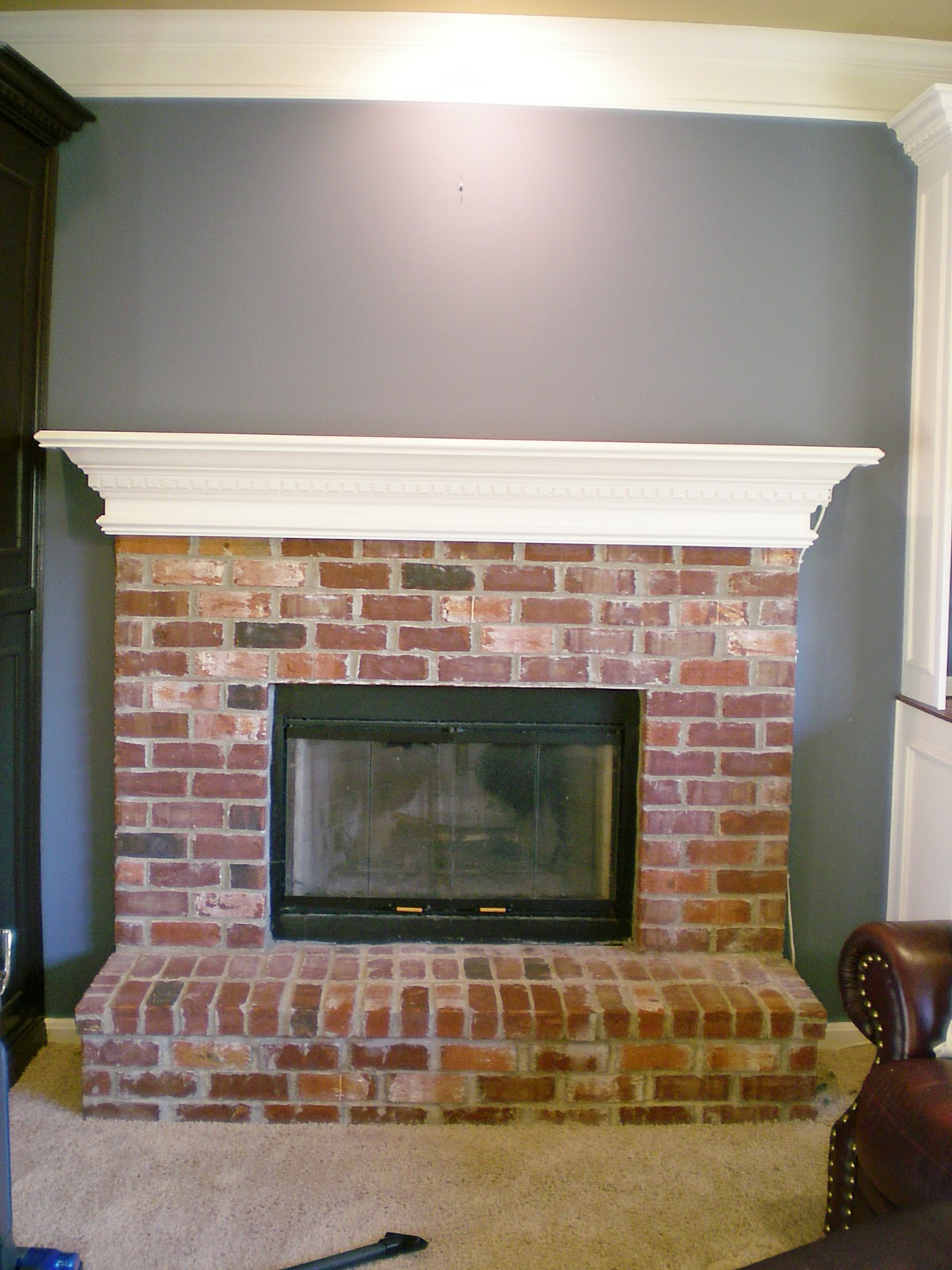 Whitewash Fireplace Before And After First Project 2011 Whitewash Brick Love It Cleverly Inspired