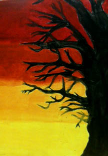 The Helpful Art Teacher Paint Sky Silhouettes And Sunsets