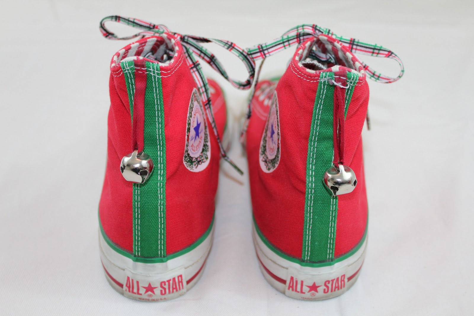 409ade5f4a4 My 1990 s era Converse All Star Chuck Taylor Christmas Jingle Bell edition  sneakers. Been breaking these out every year at Christmas time since I got   em ...