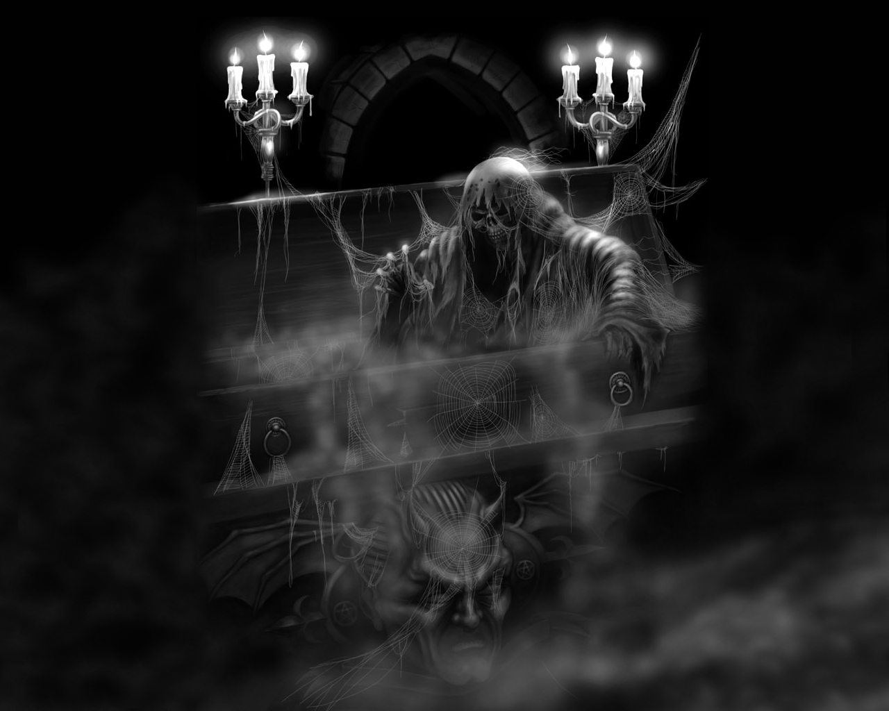 Scary wallpaper backgrounds - Scary skull backgrounds ...
