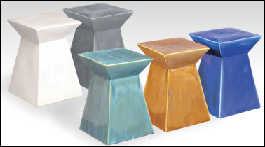 While Finegardenproducts Goes Modern With Angular Ceramic Garden Seat In Five Colors