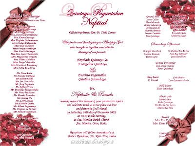 Philippine Wedding Invitation Wording Sample – Sample Wedding Invitation Format