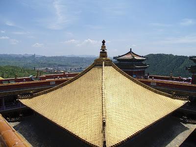 Tejado Dorado en Monasterios Chengde