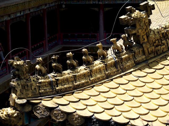 Detalle del tejado de los templos de Chengde