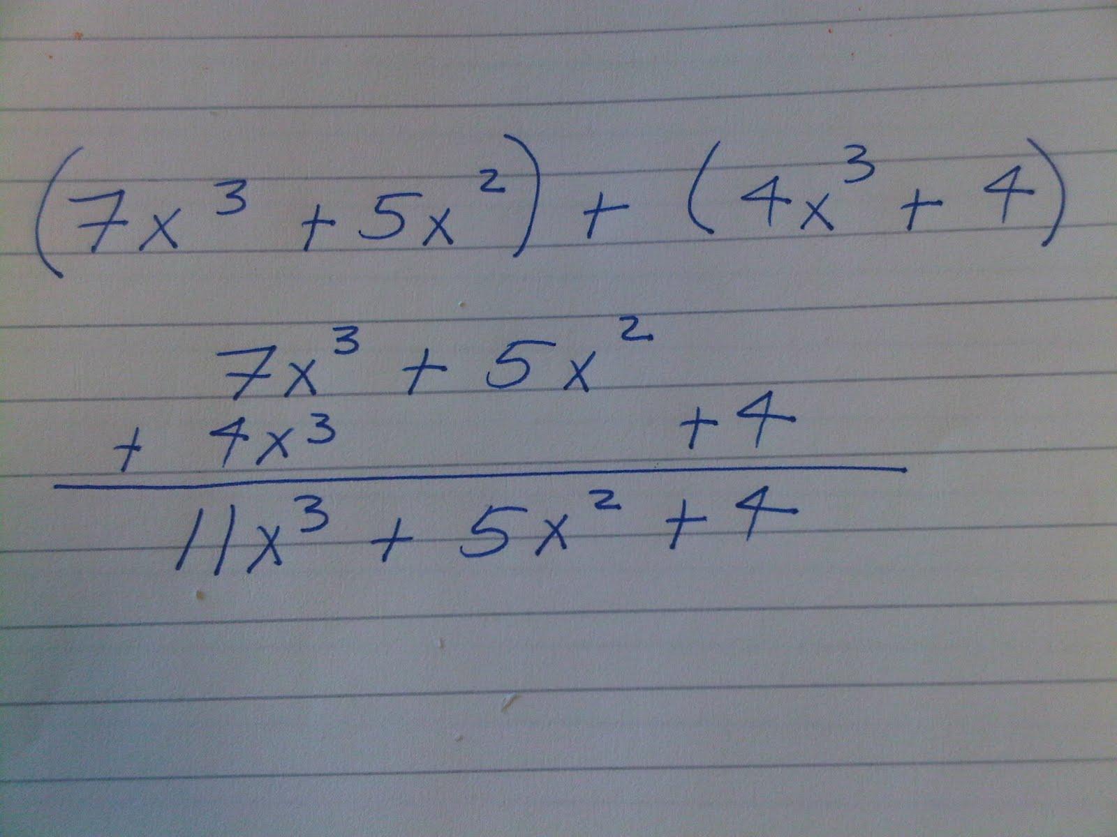 Algebra Aside Polynomials