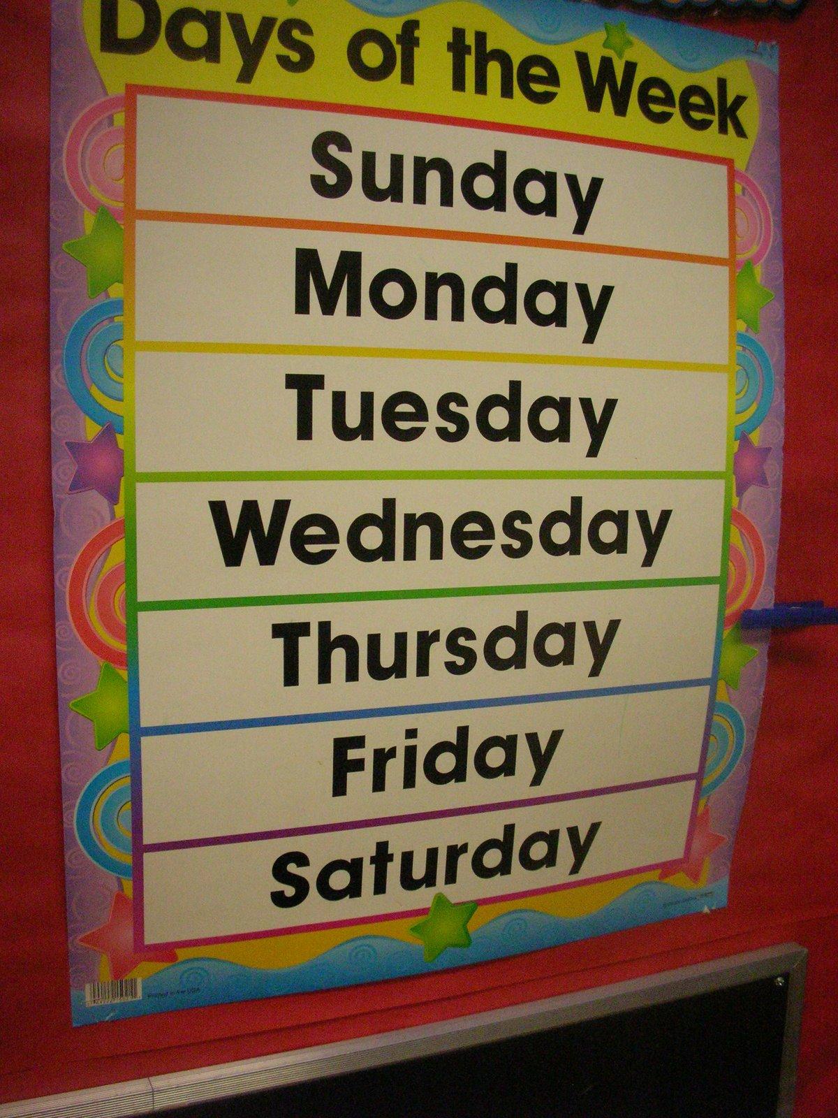 Kindergarten Kids Calendar Time In Kindergarten