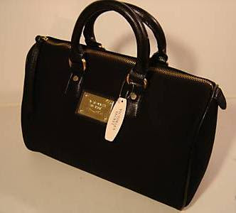 Victoria S Secret Heaven Victoria S Secret Black Canvas Speedy Handbag
