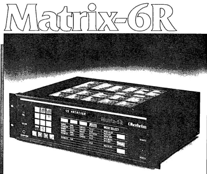 matrixsynth oberheim matrix 6r manual rh matrixsynth com Oberheim Matrix 12 Oberheim Matrix 1000