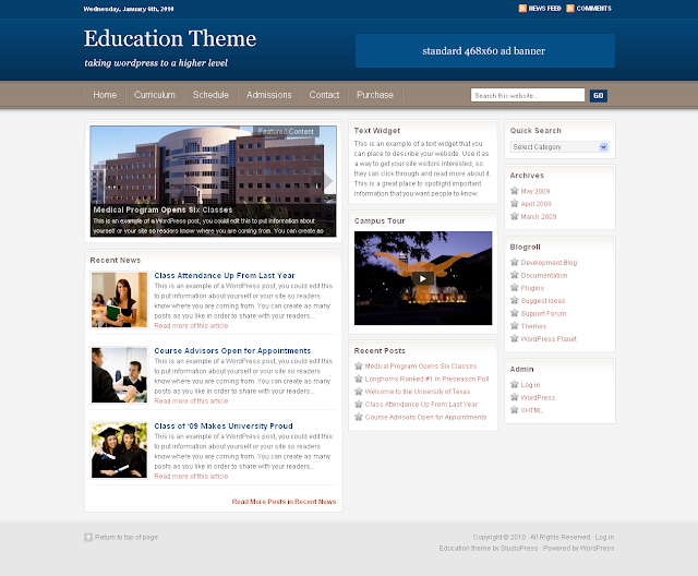Studiopress Education Wordpress Theme