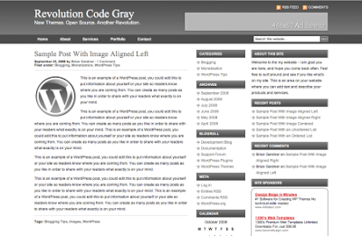Revolution Code Gray Wordpress Theme Free Download.