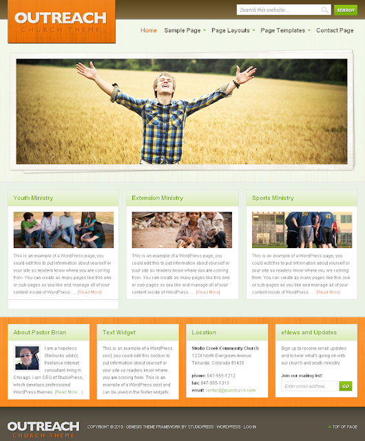 Outreach Child Theme Free Download.