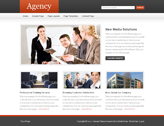 Agency Child Theme Free Download.