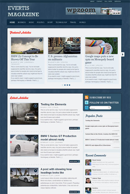 Evertis Magazine Wordpress Theme by WPZoom Free Download.