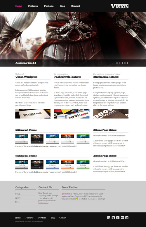 Vision Wordpress Theme Free Download by Themeforest.