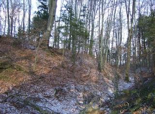 Römerschanze bei Grünwald zwischen erstem und zweitem Wall