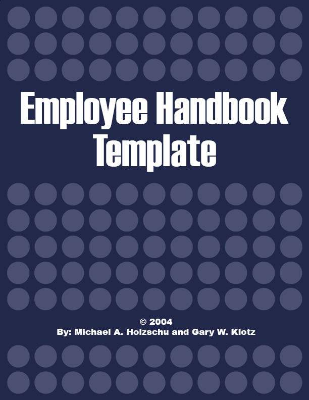 employee handbook cover page template - suresh inforesearch